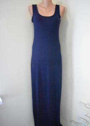 Новое длинное трикотажное платье