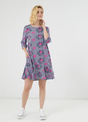 Оригинальное короткое платье season розовый фламинго