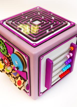 Развивающий бизи куб со сменными модулями, игрушка для детей