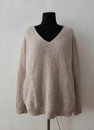 """Стильный модный теплый свитер """" мокко """" большого размера"""