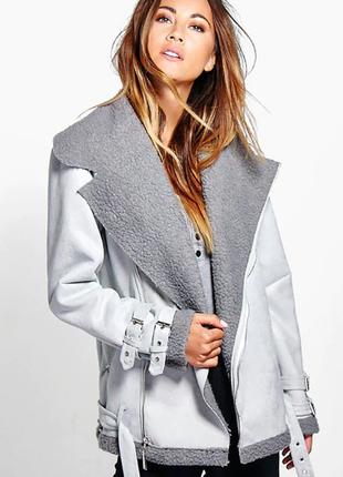 Куртка женская косуха осенняя под дубленку