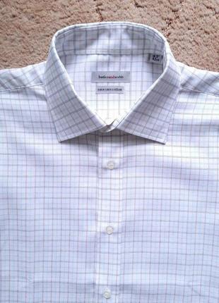 "Рубашка мужская белая под запонки butlerandwebb (англия),16,5""..."