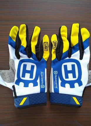 Мото перчатки Husqvarna M, L, XL для мотокрос та ендуро
