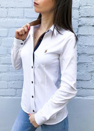 Рубашка поло женская белая