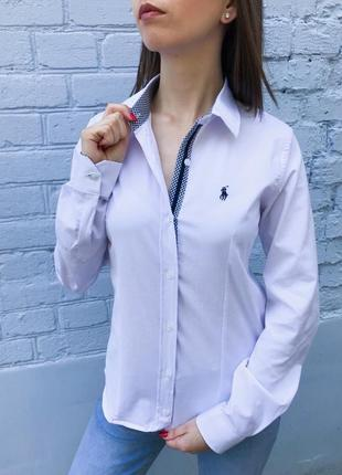Рубашка женская поло белая