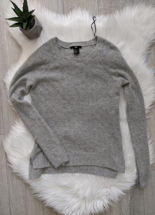 🔥🔥🔥 свитер джемпер серый ангора  h&m xs