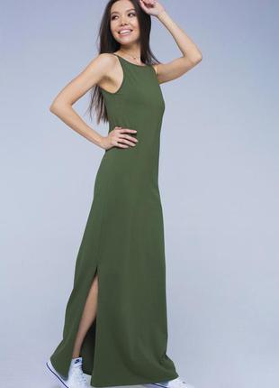 Стильное женское трикотажное платье, сарафан макси, в пол oasis