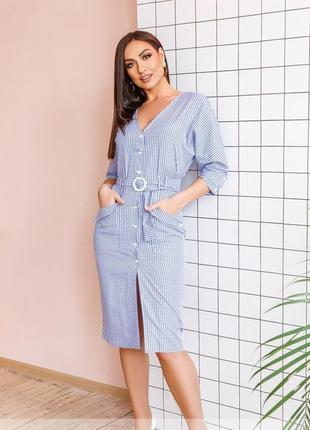 Коттоновое платье размеры 48-58