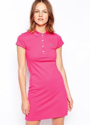 Платье поло розовое lacoste