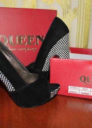 Туфли с открытым носком queen