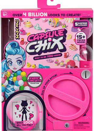 Кукла сюрприз Сладкая мода Capsule Chix Sweet Circuits