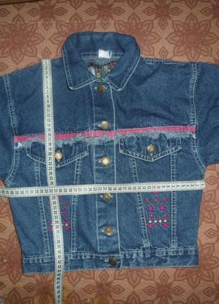Куртки джинсовые для девочки