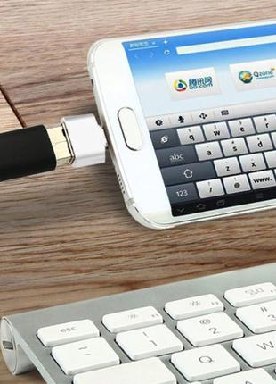 Универсальный Micro USB - USB OTG адаптер переходник для флеше...