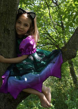 Карнавальное платье чёрное с  фиолетового оттенка ведьмы,приви...