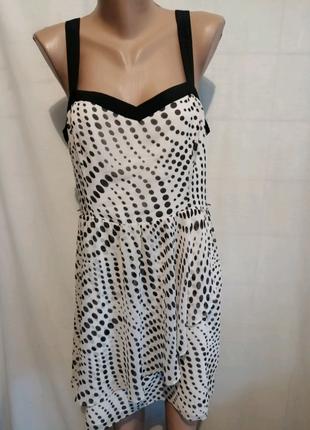 Платье сарафан на лето в горошек