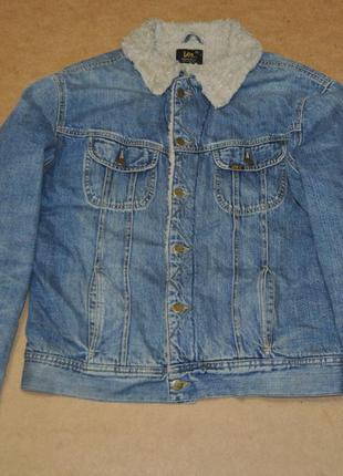 Lee sherpa джинсовая куртка дживсовка на меху хл