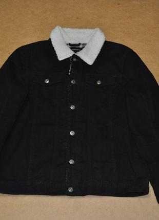 Brave soul мужская черная джинсовка с мехом хл куртка