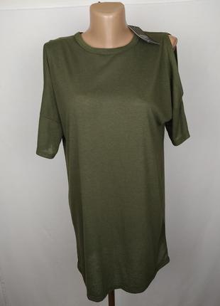 Блуза новая модная льняная цвета хаки new look uk 10/38/s