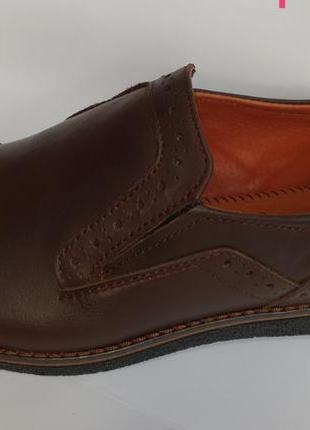 Туфли кожаные мужские zangak