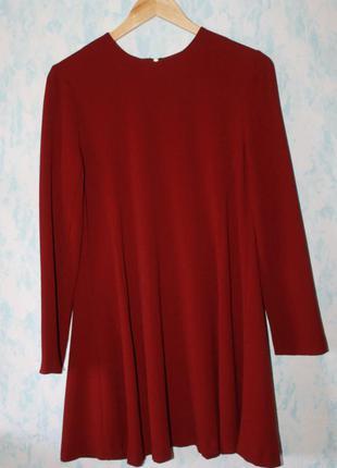 Платье бордовое длинный рукав  atmosphere 38р. мега распродажа!