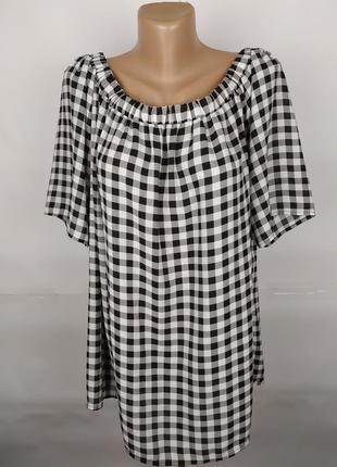Блуза стильная в клетку большого размера papaya uk 22/50/4xl