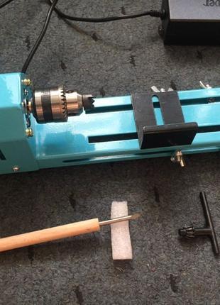 Мини токарный станок 150W (циркулярка, шлифовка) 0-7000 об/мин