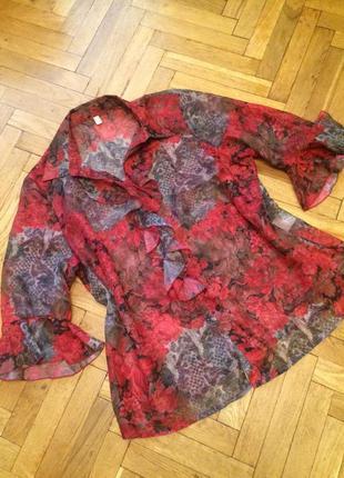Шифоновая блузка,рубашка,германия