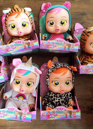 Кукла пупс cry babies большая 28 см
