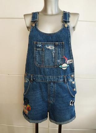 Стильный джинсовый комбинезон topshop с шортами