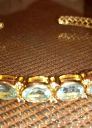 Браслет ,,нежность,, ,серебро 925 с топазами, покрытие 14 к