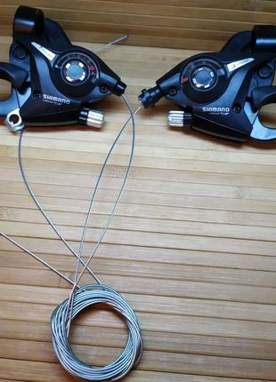 Манетки моноблок Shimano ST-EF51 3 + 7 скоростей переключатель ск