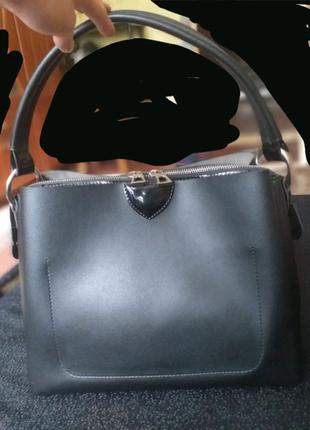 Женская сумка, чёрная сумка
