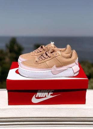 Кроссовки nike air force jester beige / pink
