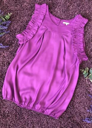 Красивая блузочка лилового цвета river island размер 14