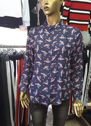Sale %30%легкая блуза с принтом.