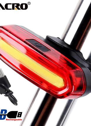 Велофара задняя Zacro 120 люмен мигалка фара для велосипеда