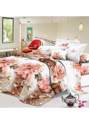 Постельное белье софия 3d - капелька роз