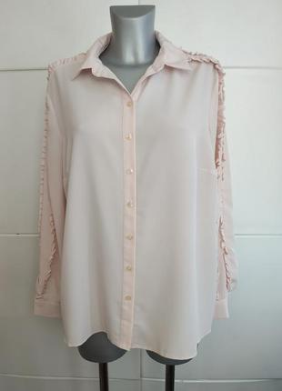 Нежная блуза tu пудрового цвета с рюшами