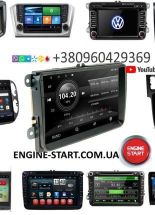 "Магнитола 9"" GPS Volkswagen Passat B6 B7 Polo Golf Eos CC Cadd..."
