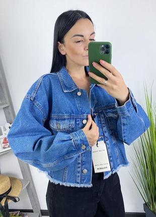Новыя джинсовка оверсайз в винтажном стиле винтаж джинсовый пи...