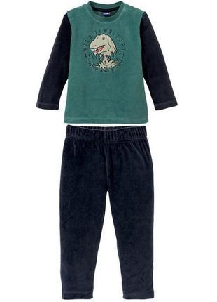 Велюровый домашний костюм мальчику пижама с дино р. 98/104  2-...
