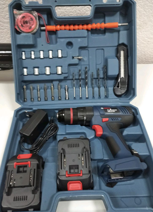 Ударный шуруповерт Bosch GSB 24-2LI 24V 5Ah с набором инструменто
