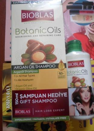 Шампунь bioblas c маслом арганы для укрепления волос, 360мл + ...
