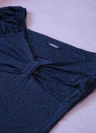 Платье темно синее с цветочным принтом