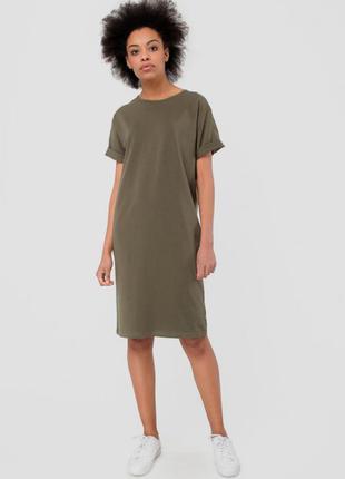 M / классное платье футболка вискоза миди повседневное