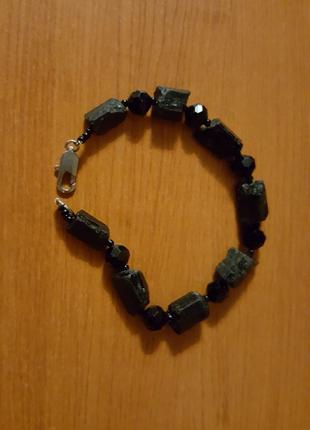 Продам браслет чёрный турмалин шерл