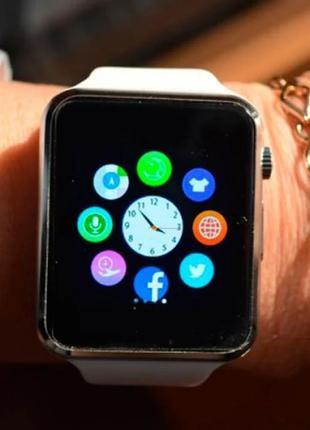 + ПОДАРОК! Смарт-часы Smart Watch A1 Черные купить в Украине