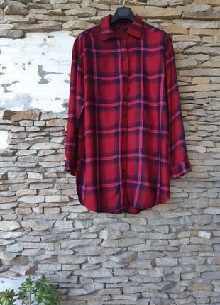 Стильная удлинённая рубашка туника большого размера
