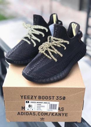 Adidas yeezy 350 v2 static black мужские кроссовки адидас черн...