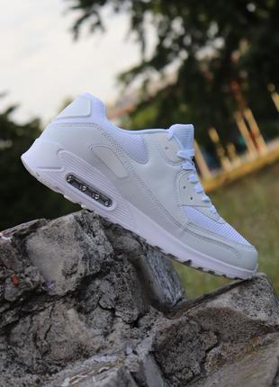 Классические мужские белые кроссовки под nike air max весна ле...